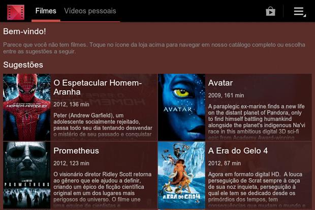 Interface do Google Play Movies & TV (Foto: Reprodução/Teresa Furtado)