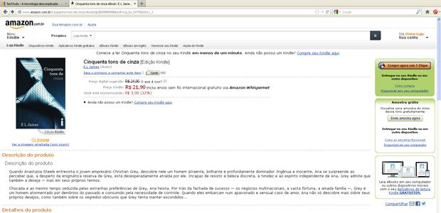 """Clique em """"Compre Agora"""" para adquirir o livro digital (Foto: Reprodução)"""