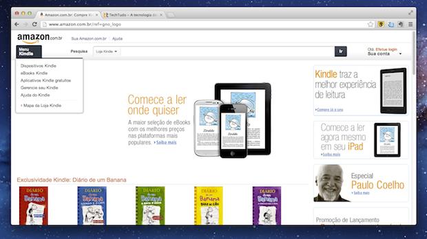 Site da Amazon no Brasil (Foto: Reprodução/TechTudo)