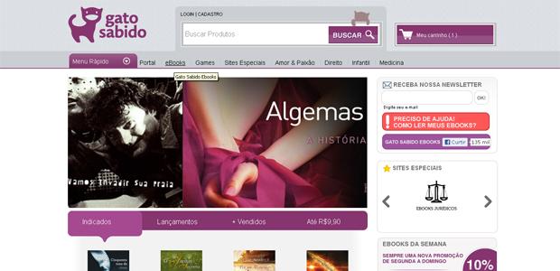 Gato Sabido também tem e-Books (Foto: Reprodução)