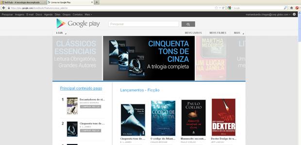 Livros na Google Play (Foto: Reprodução)