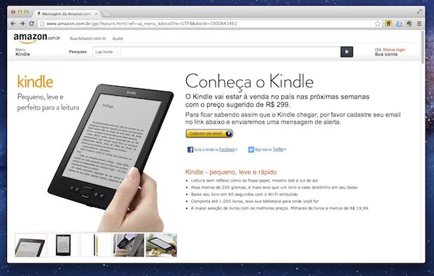 Kindle brasileiro (Foto: Reprodução/TechTudo)