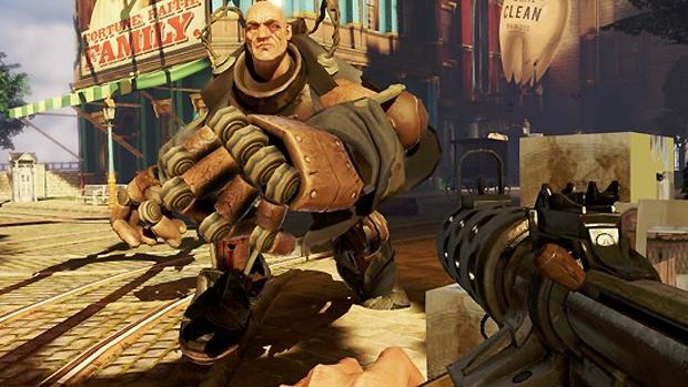Os Handyman são os substitutos de Big Daddy em BioShock Infinite (Foto: The Game Druid)