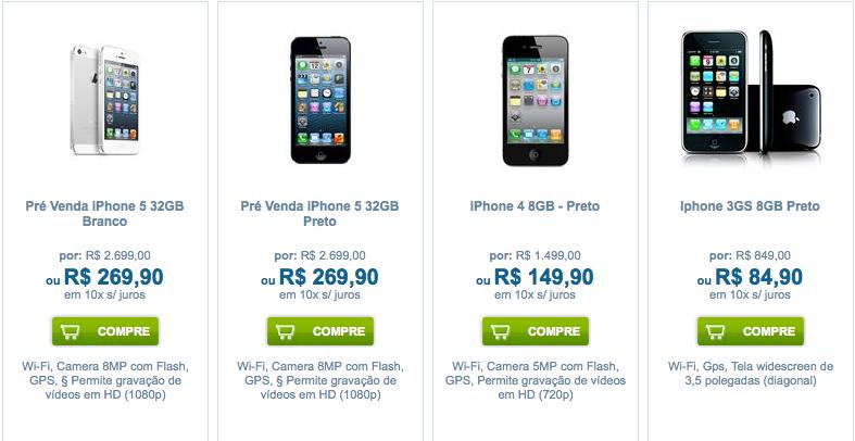 iPhone 5 em pré-venda na TIM (Foto: TechTudo)