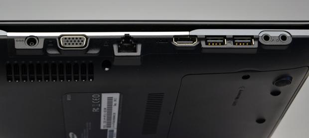 Conexões de fonte, VGA, ethernet, HDMI, duas USB e de áudio (Foto: Stella Dauer)