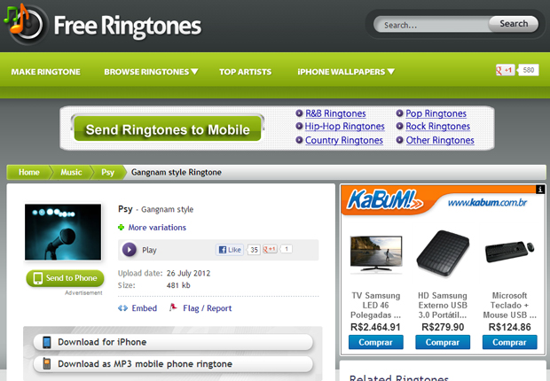 Free MP3 Ringtones for your mobile phone tablet
