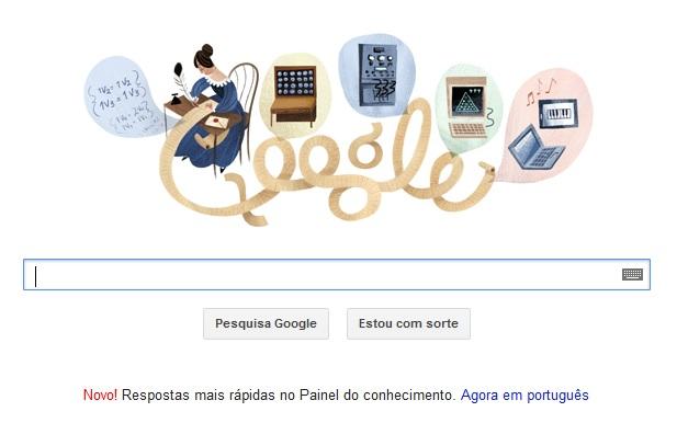 Ada Lovelace é homenageada por Doodle do Google (Foto: Reprodução/Google)