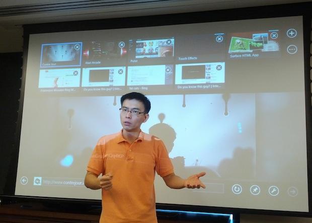 Chewy Chong, executivo da Microsoft (Foto: TechTudo/Renê Fraga)