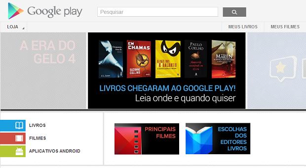 Google Play oferece filmes e livros no Brasil para usuários Android. (Foto: Reprodução/Google Play) (Foto: Google Play oferece filmes e livros no Brasil para usuários Android. (Foto: Reprodução/Google Play))