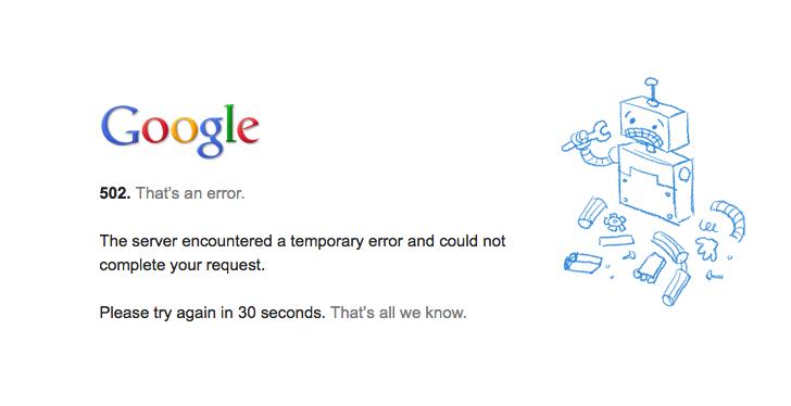 Gmail parou de funcionar na tarde dessa segunda-feira (10)  (Foto: Reprodução/Google)
