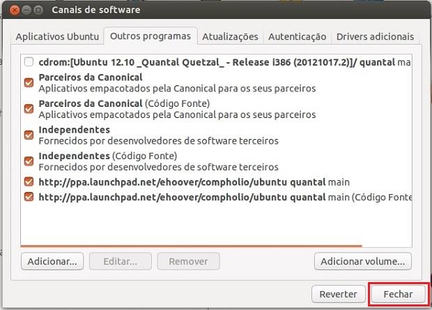 """Fechando a janela """"Canais de Software"""" (Foto: Reprodução/Edivaldo Brito)"""