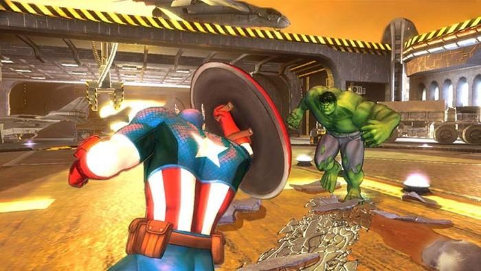 Capitão América enfrentando o Hulk?! (Foto: Reprodução)