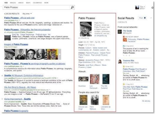 Resultados com um mini resumo do que foi pesquisado no motor de busca (Foto: Reprodução/Neowin)