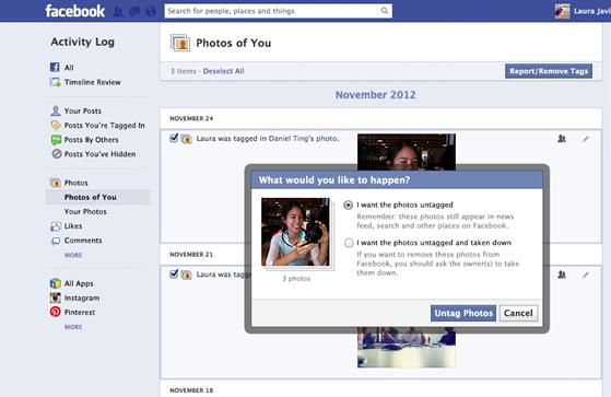 Usuários poderão desmarcar ou editar tags em diversas fotos ao mesmo tempo (Foto: Divulgação)
