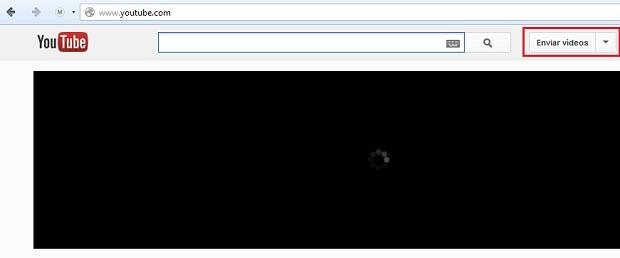 """Clicando em """"Enviar vídeo"""" (Foto: reprodução/Edivaldo Brito)"""