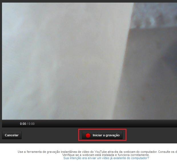 Iniciando a gravação do vídeo (Foto: reprodução/Edivaldo Brito)