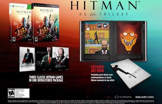 Primeiras edições de Hitman HD Trilogy acompanharão livro de arte (Foto: Gematsu)