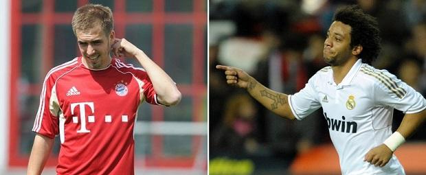 Lahm e Marcelo são laterais bem ofensivos (Foto: Reprodução/AFP)