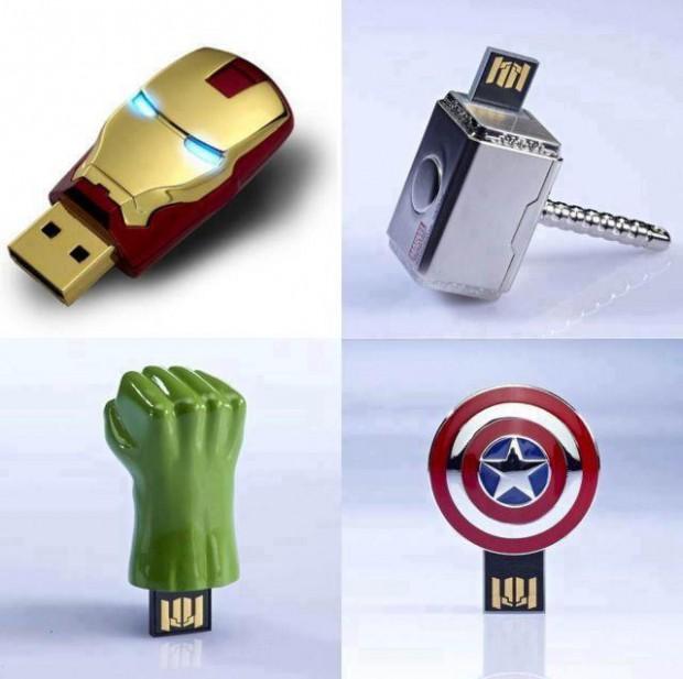 Pendrive de 8GB de Os Vingadores