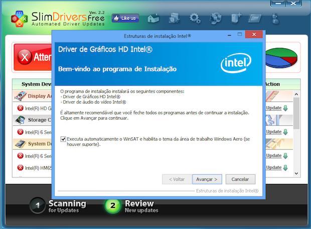 Assistente de instalação de driver da Intel (Foto: Reprodução/Helito Bijora)
