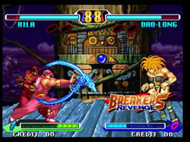 Breakers Revenge tinha até uma lutadora que lembrava o Blanka (Foto: Reprodução)