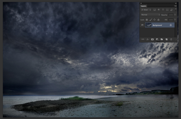 Imagem de céu aberta no Photoshop (Foto: Reprodução/André Sugai)