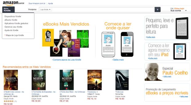 Amazon lança loja no Brasil (Foto: Reprodução/Ricardo Fraga) (Foto: Amazon lança loja no Brasil (Foto: Reprodução/Ricardo Fraga))