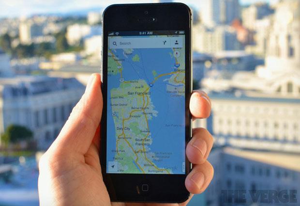 Aplicativo do Google Maps já está no topo da App Store (Foto: Reprodução/ The Verge)