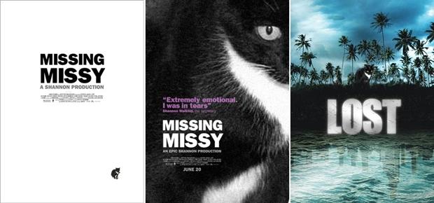 Cartazes com a foto de Missy produzidos por David Thorne (Foto: Reprodução)