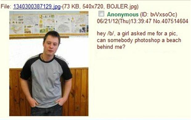 Imagem original do menino que pediu ajuda com Photoshop (Foto: Reprodução)