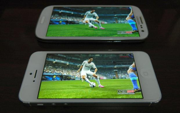 Qualidade do iPhone é melhor, porém tela do S3 é maior (Foto: Reprodução/Thiago Barros)