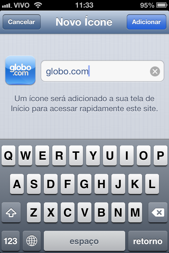 Ao criar o atalho, apenas clique em Adicionar (Foto: TechTudo)