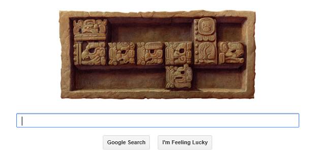 Google brinca com o fim do mundo em doodle desta sexta (Foto Reprodução Google)