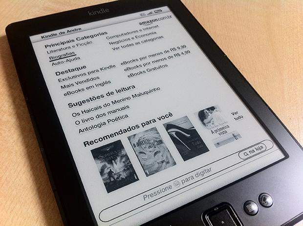 Loja da Amazon, dentro do Kindle (Foto: André Fogaça)