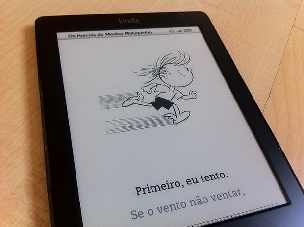 Livro de Ziraldo, no Kindle 4 (Foto: André Fogaça)