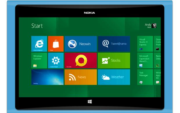 Conceito de um tablet da Nokia (Foto: Reprodução/Neowin)