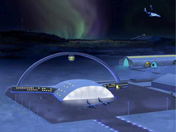 Aeroporto para naves espaciais deverá operar dentro de 10 anos (Foto: Reprodução)