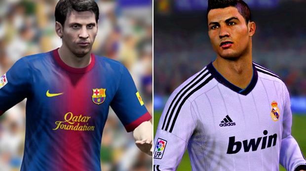 Messi e Ronaldo, os maiores craques do Fifa 13 (Foto: Reprodução)