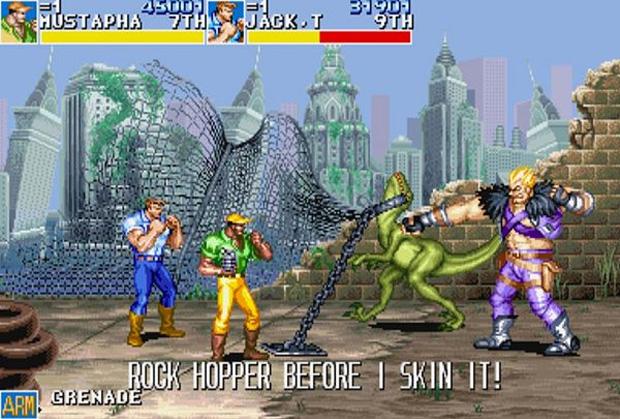 Dinossauros podiam ser agredidos durante o game (Foto: Reprodução)