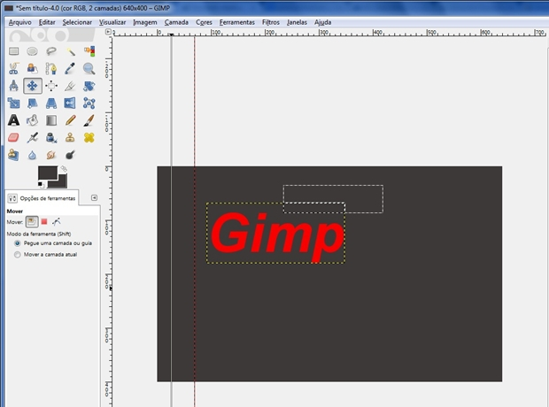 Janela do Gimp configurada para mover uma camada ou guia (Foto: Reprodução/Raquel Freire)