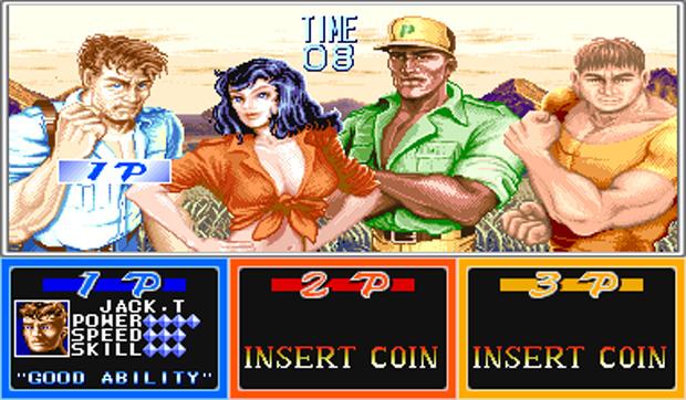 A tela de seleção de personagens de Cadillacs and Dinosaurs (Foto: Reprodução)