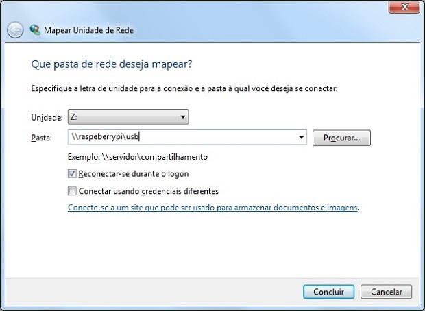 Acessando um servidor de arquivos Raspberry no Windows (Foto: Reprodução/Edivaldo Brito)