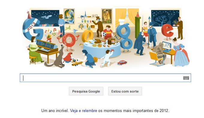 Fim de ano, é comemorado em último Doodle do ano pelo Google (Foto: Reprodução/Google)