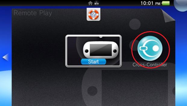 No Vita, é esta a opção que ativa o Cross-Controller (Foto: Reprodução)