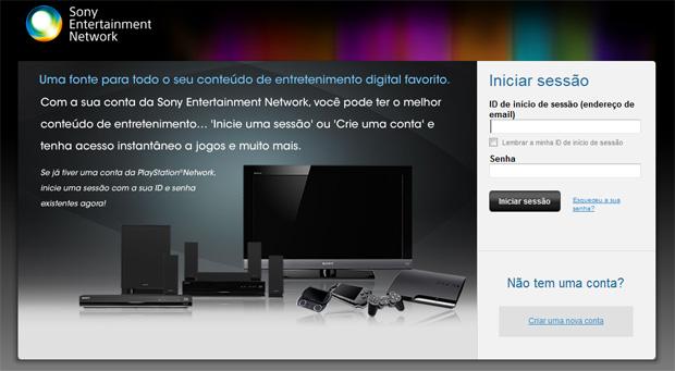 Sony mantém um site onde é possível realizar o processo (Foto: Reprodução)