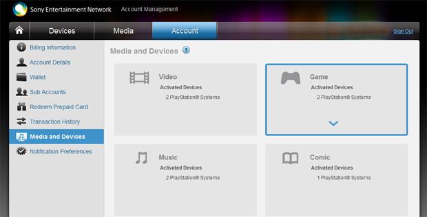 Nesta tela você confere quais são os aparelhos associados com sua conta (Foto: Reprodução)