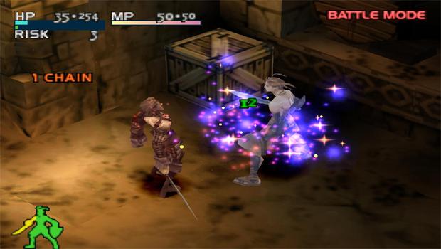 Vagrant Story mostra o ataque de um inimigo contra Ashley (Foto: Reprodução)