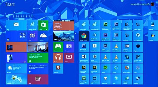 Interface mais personalizável é uma das novidades prometidas pelo novo Windows Blue (Foto: Reprodução)