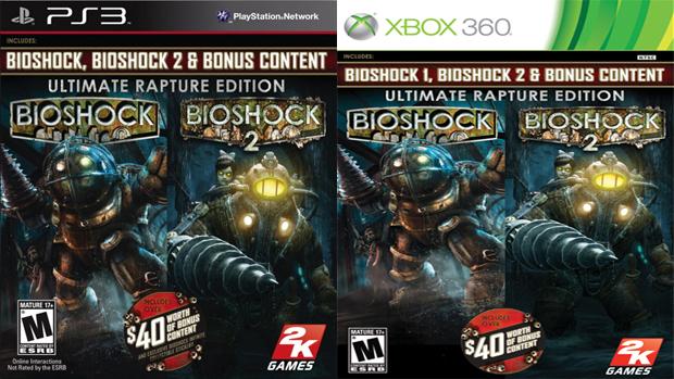 Coletânea traz BioShock 1 e 2, DLCs e extras por um preço camarada (Foto: playstationlifestyle.net e futureshop.ca)