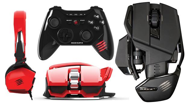 Headset, controle e dois mouses compõem a nova linha da MadCatz (Foto: Divulgação) (Foto: Headset, controle e dois mouses compõem a nova linha da MadCatz (Foto: Divulgação))